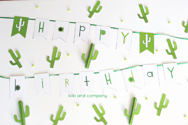 cactus party printables from kiki and company. cute!