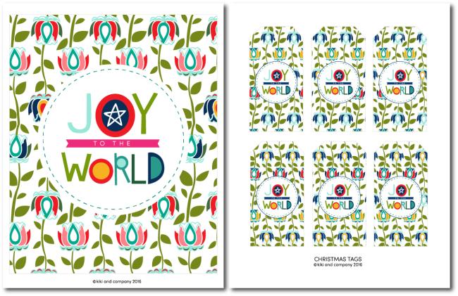 Holidays: Free printable Joy to the World print from Kiki & Co. Print this adorable art to hang in your home for Christmas! via www.thirtyhandmadedays.com