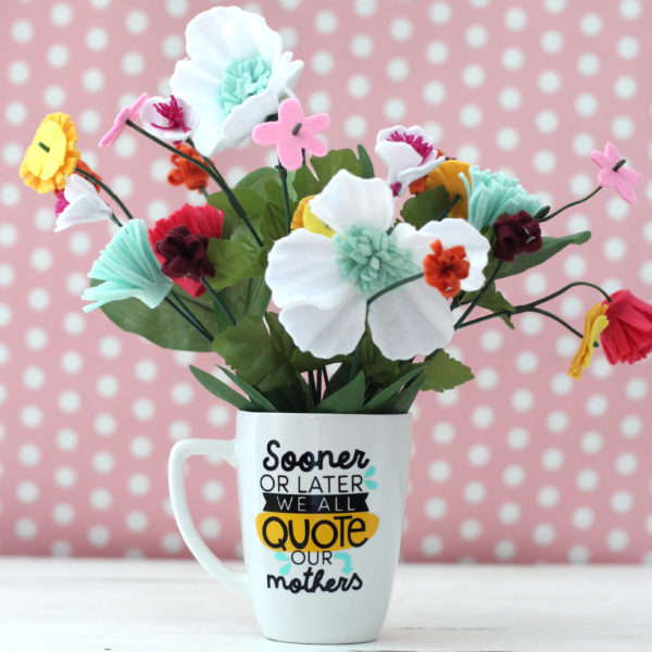 Personalized Mother's Day Mugs with Expressions Vinyl - Kiki